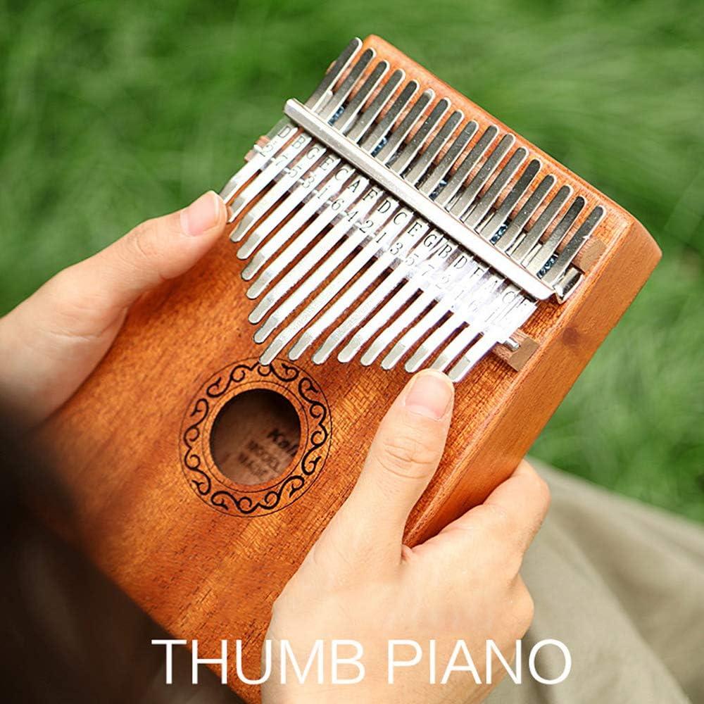 Color madera de caoba. Kalimba Piano de pulgar 17 teclas port/átil Mbira 17 tonos madera Kalimba pulgar piano port/átil dedo instrumento musical