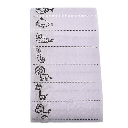 ynuth diseño animales etiquetas a coser nombre nombre Name Labels para uniformes escolares ropa de niños