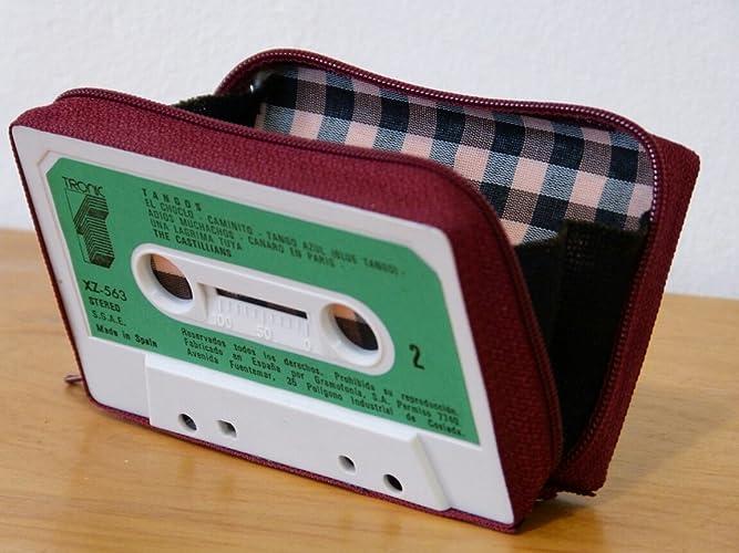 Monedero handmade hecho con cinta de casette: Amazon.es ...