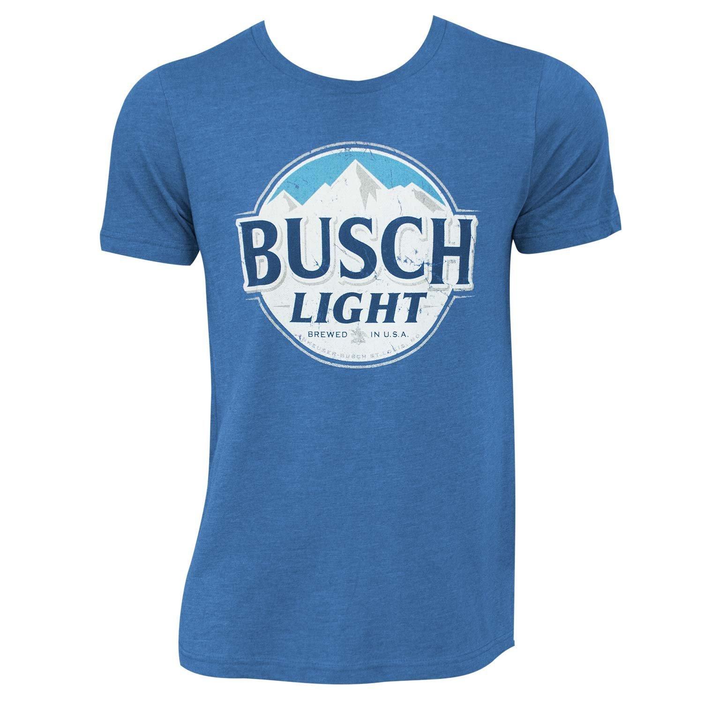 Busch Light Heather Round Logo Tee Shirt X-Large