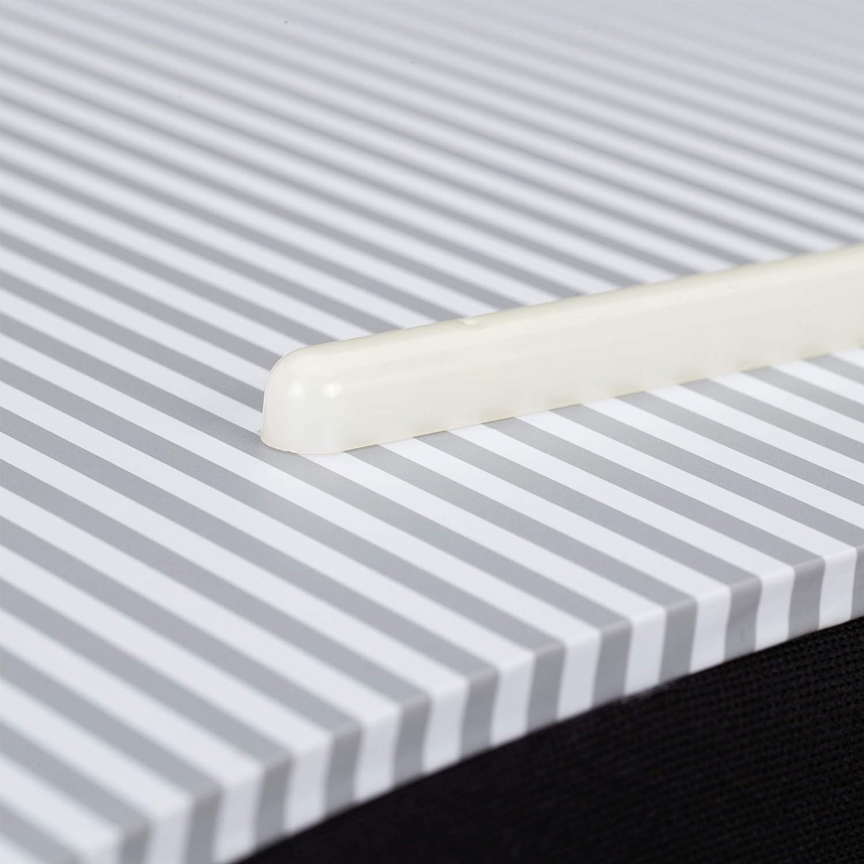 Relaxdays 10027857/_49 Lap Desk 1 /él/ément Poign/ée Blanc Couche en Bois Rembourrage Moelleux Polyester Coussin Ordinateur LxP: 52 x 33 cm