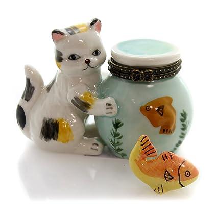 De gato del gatito de oro caja de phb pecera con 627