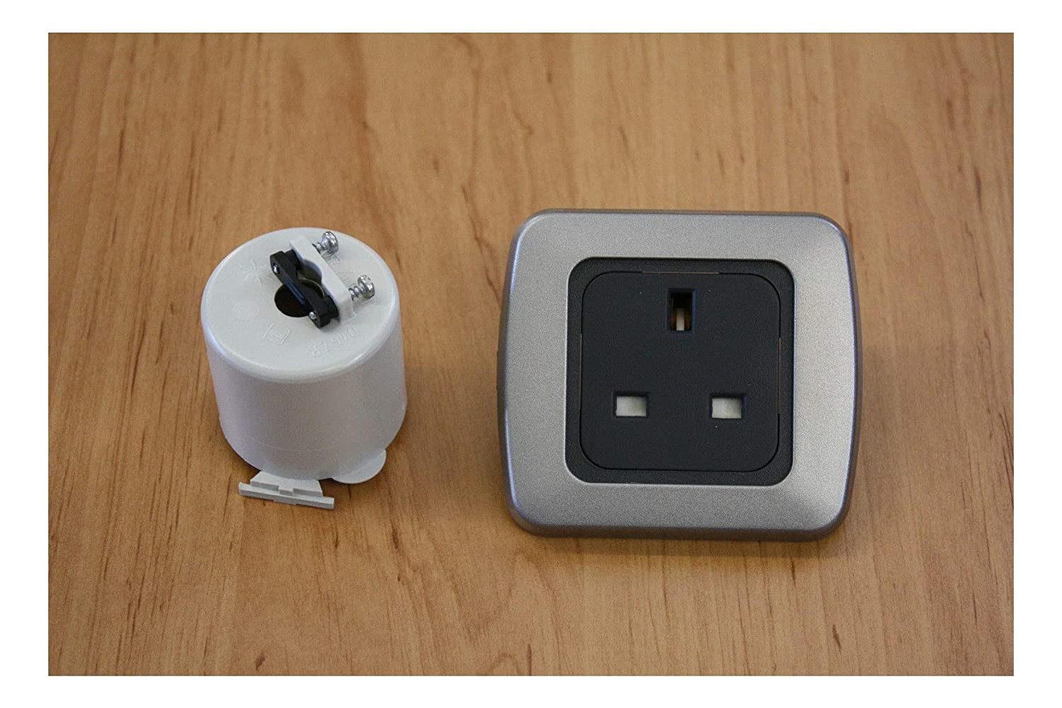 Support Frame Dimmer Switch Flatline Silver Double Surround Single Light Switch