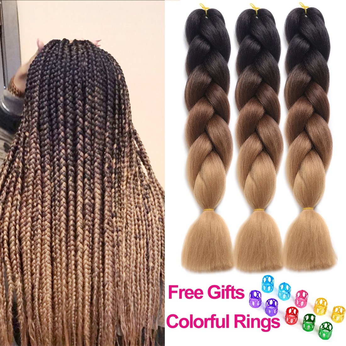 Amazon Ding Dian Synthetic Braiding Hair Extensions Kanekalon