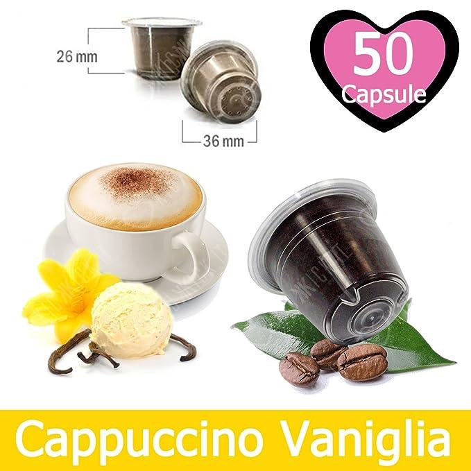 50 Capsulas Café Sabor Vainilla Compatibles Nespresso - Café Kickkick