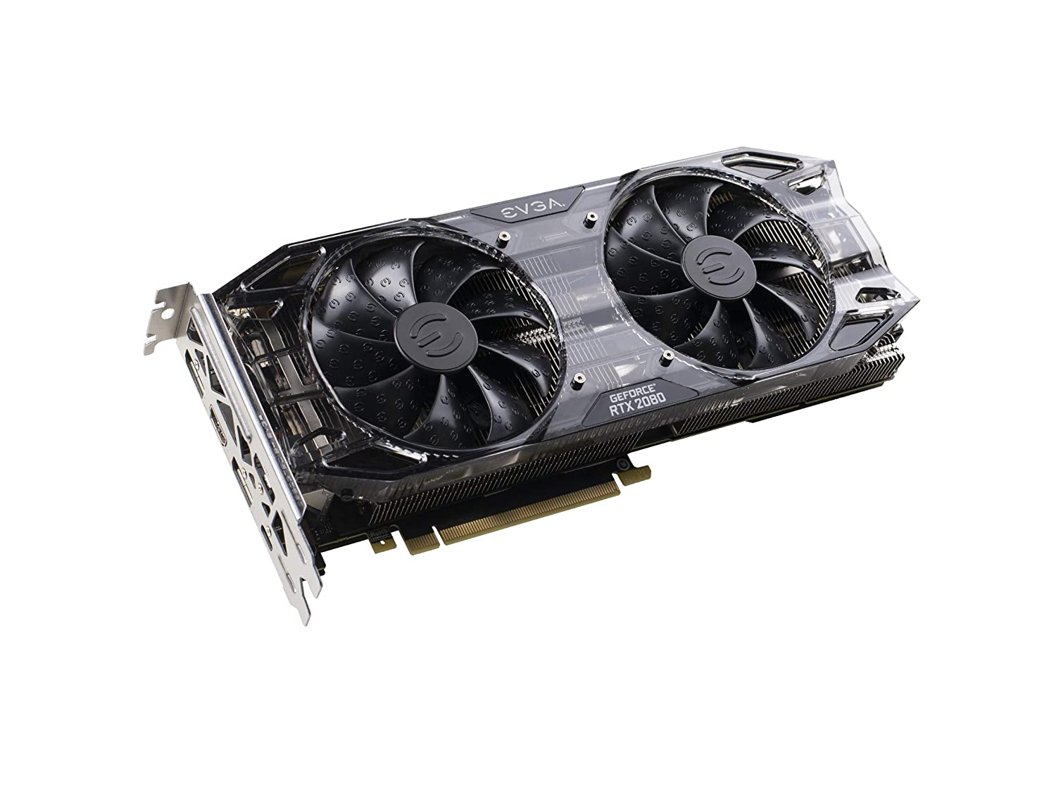 EVGA 08G-P4-2081-KR GeForce RTX 2080 Gaming 8GB GDDR6 Dual HDB Graphics  Card, Black Edition