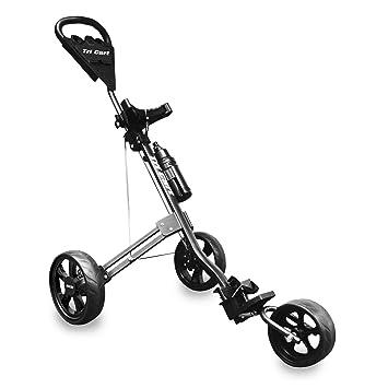 LONGRIDGE Tri Cart - Carrito de golf de 3 ruedas negro negro: Amazon.es: Deportes y aire libre
