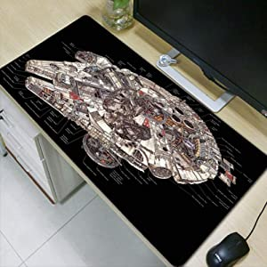 WHFDSBD Large Laptop Gaming Mouse Pads Locking Edge Star War Mouse Pad Mat Mouse Mice Pad for Game Player