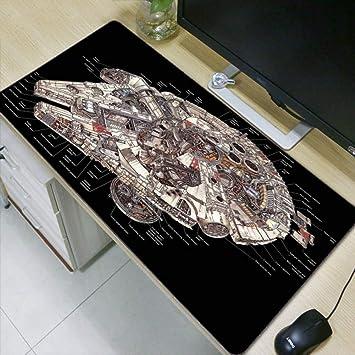 WHFDSBD Large Gaming Mouse Pad Gamer Locking Edge Keyboard Mouse Mat Gaming Desk Mousepad