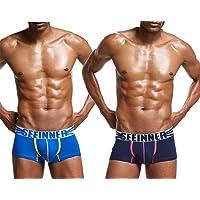 AiJump Pack de Calzoncillos Trunks Slips Briefs para Hombre Ropa Interior Slip Deportivo Shorts Transpirable de Hombre…