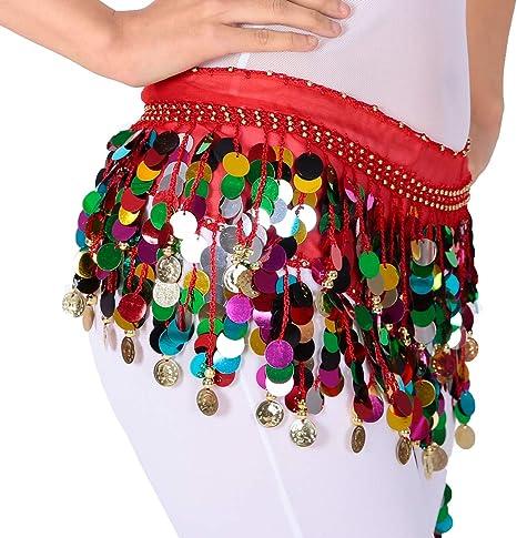 Magogo Belly Dance Hip Bufanda Falda Cinturón Cinturón Cadena con ...