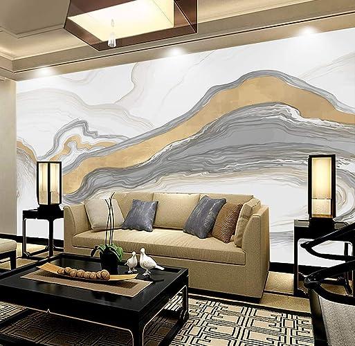 Amazon Com Murwall Abstract Wallpaper Soft Gray Line Wall