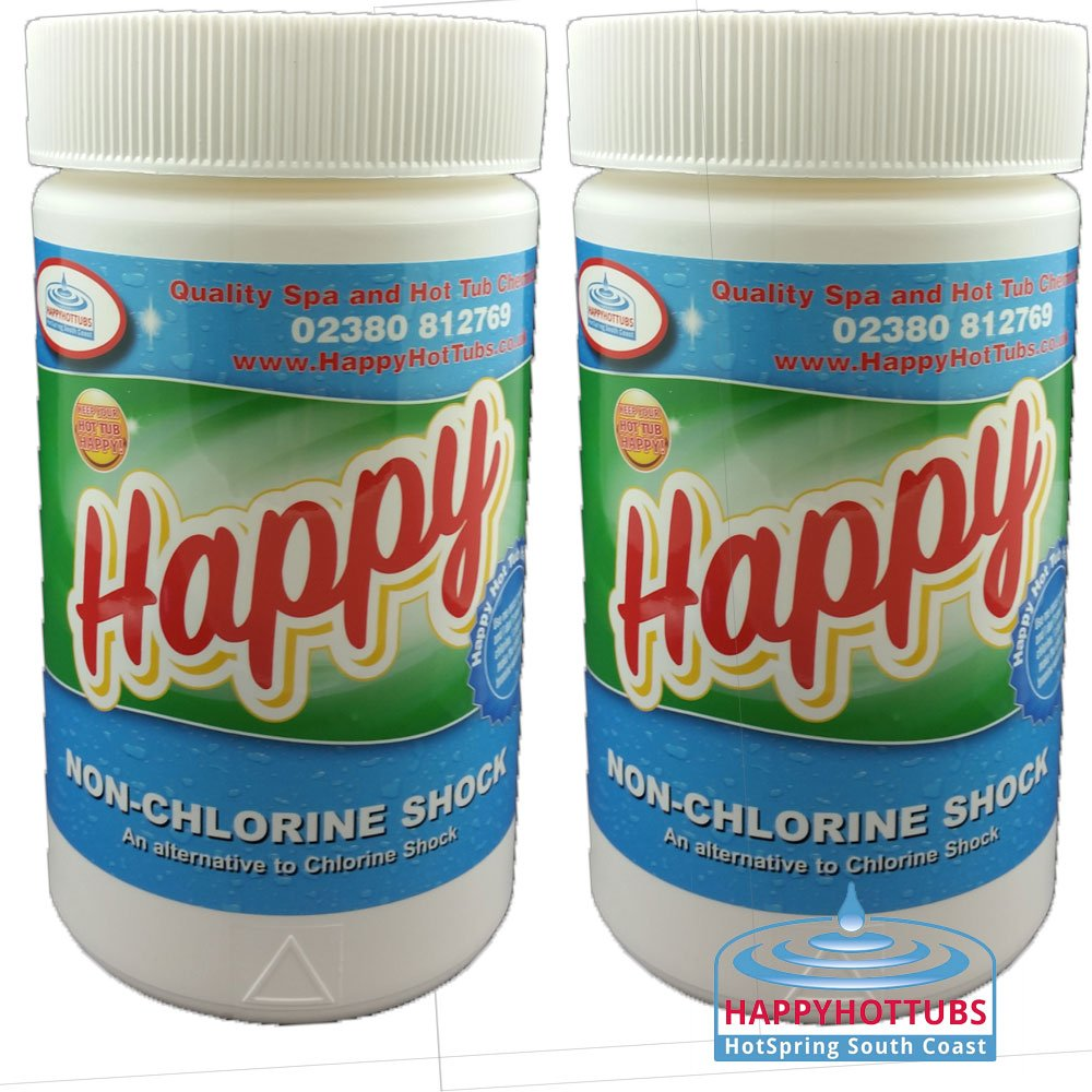 Happy Hot Tubs 2KG Quality Non Chlorine Shock Spas Hot Tubs Pool FOR CHLORINE AND BROMINE USERS