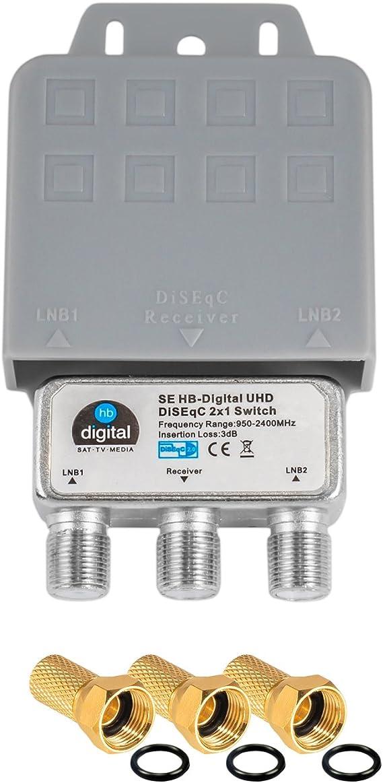 1x Diseqc Schalter Switch 2 1 Mit Wetterschutzgehäuse Elektronik