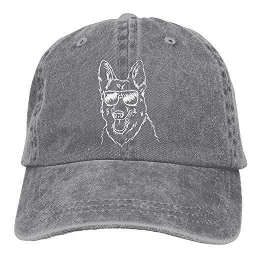 4aad1db00c6 Image Unavailable. Image not available for. Color  Unisex Cool German  Shepherd-1 Vintage Jeans Baseball Cap Classic Cotton Dad Hat Adjustable  Plain