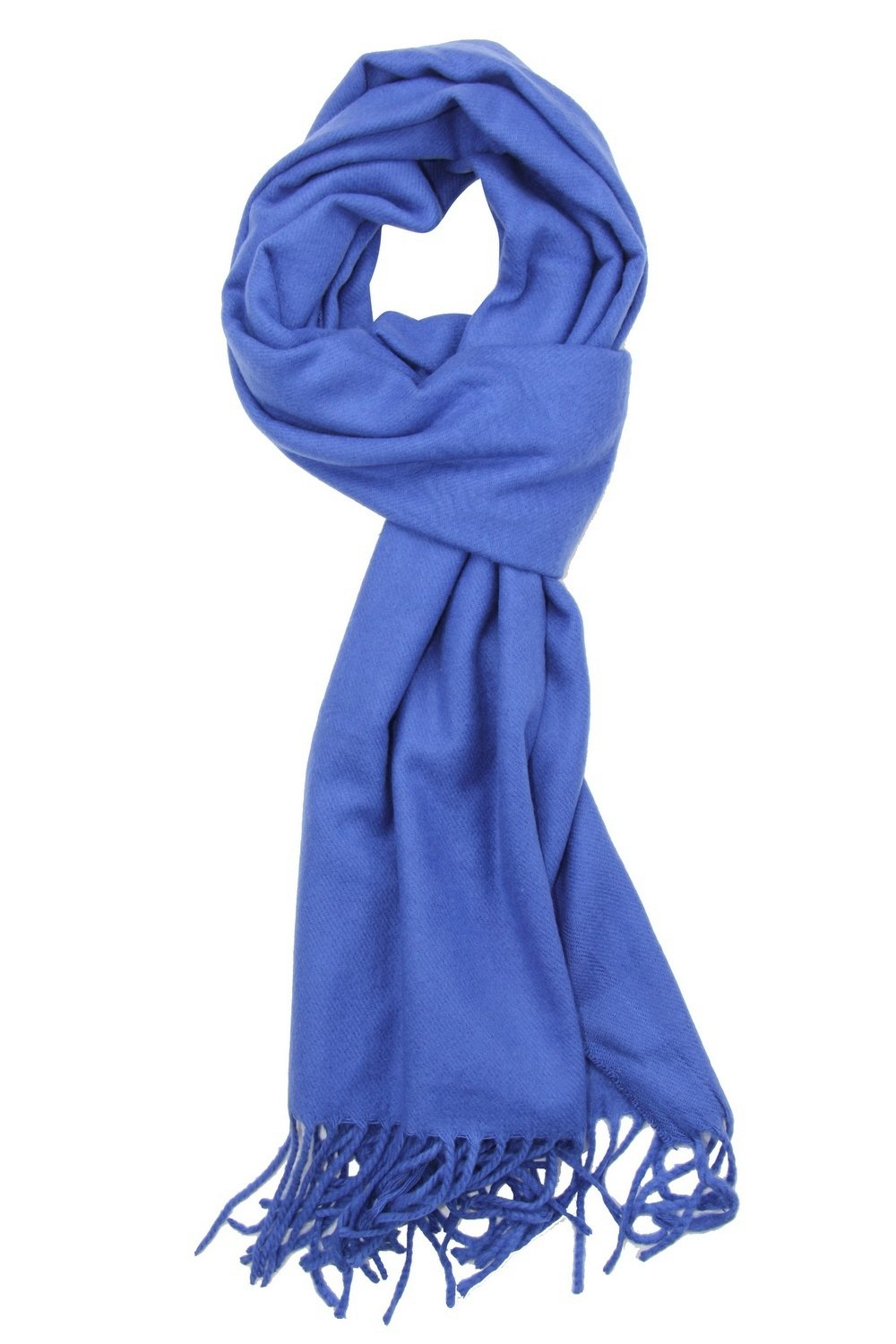 Achillea Soft & Warm Solid Color Cashmere Feel Winter Scarf Unisex (Royal Blue)