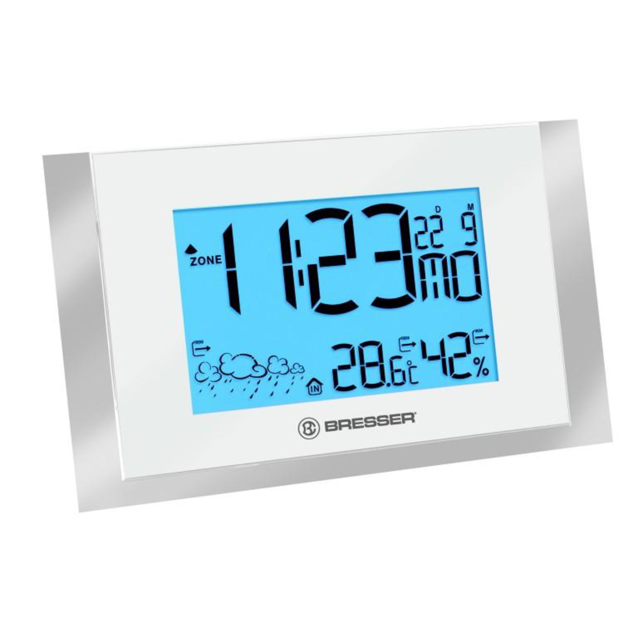 Bresser Wow200 Wireless Weather Station for Wall Mounting White/silver