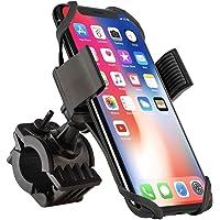 Bike Mount, Insten Bicycle Motorcycle MTB Bike Rack Handlebar Mount Phone Holder Cradle W/Secure Grip for iPhone X/XS/XS Max/XR/8 Plus/7 Plus/6S, Galaxy S9/S9+/S8/S8+/On5/S7 Edge/S7,LG V10, Black