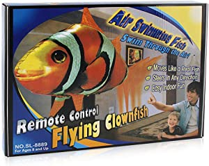Kengsiren Remote Control Flying Fish Remote Control Clownfish Flying Shark Remote Control Toys Plastic Inflatable Toys Children's Artifact Toys
