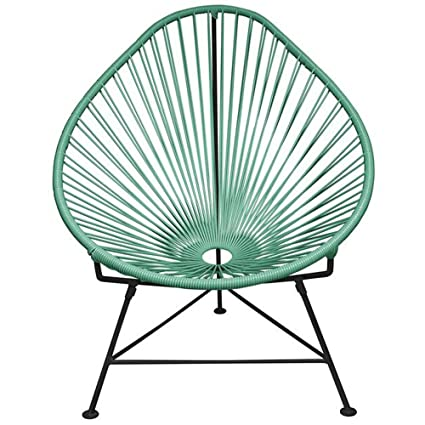 Superbe Baby Acapulco Chair With Cord Seat Black Frame   Seafoam