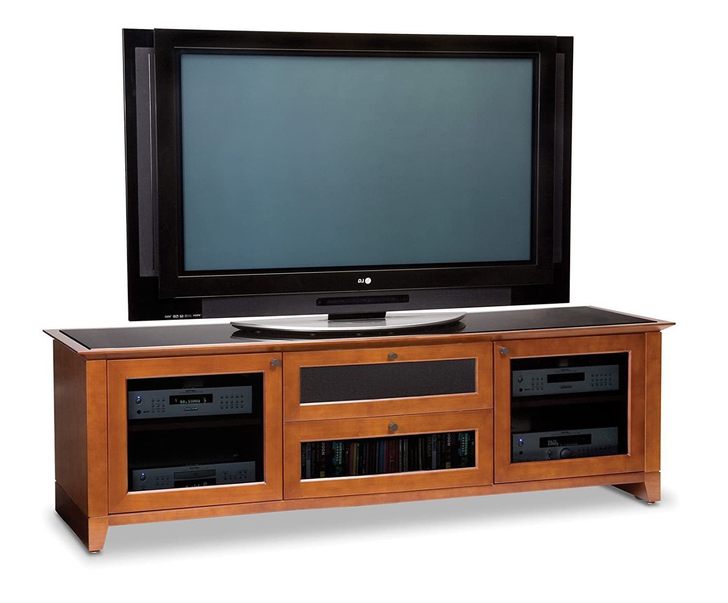 Amazon.com: BDI Novia 8429 2 Triple Wide Entertainment Cabinet, Cocoa  Stained Cherry: Home U0026 Kitchen