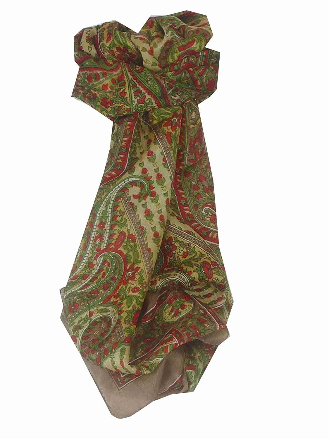 Lexi Long Caramel Traditional Silk Scarf by Pashmina & Silk