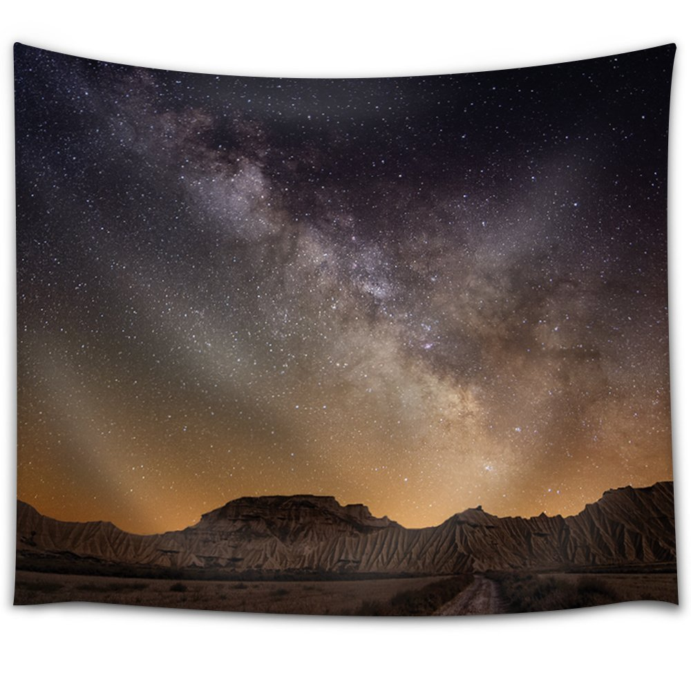 Wall26 landscape view of the mountains and night sky for Night sky fabric uk