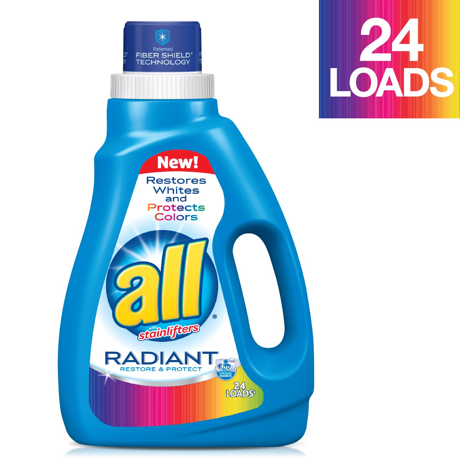 Amazon.com: all Super Concentrated Laundry Detergent - 46.5 oz ...