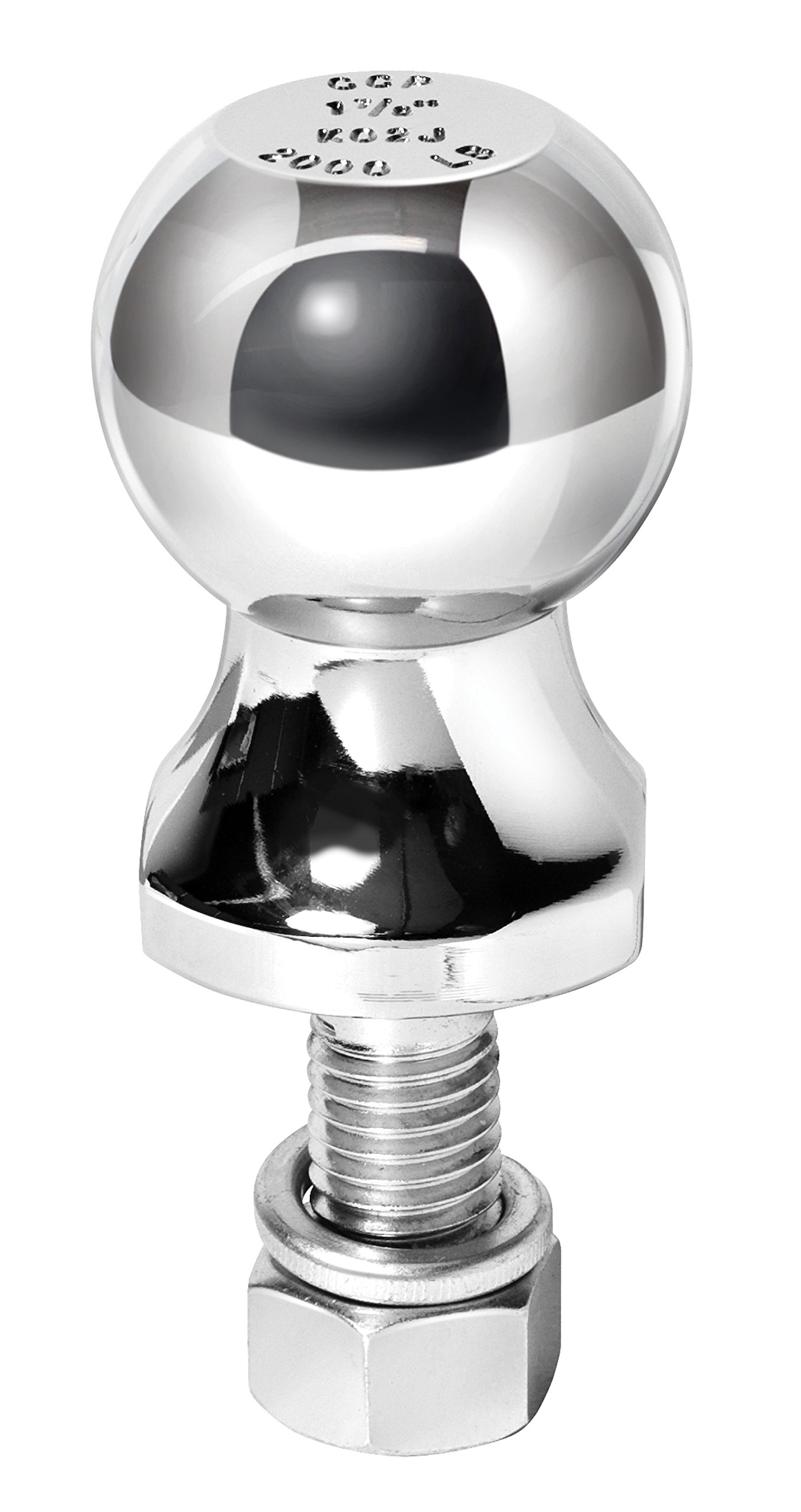 Reese Towpower 7036800 1-7/8'' Chrome Hitch Ball for ATV/Lawn Tractor
