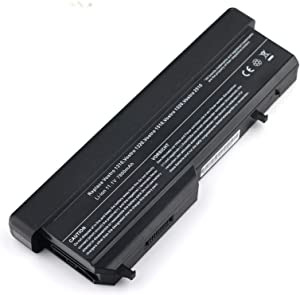 Bay Valley Parts Laptop Battery for Dell Vostro Pp36s Pp36l 1320 2510 1310 1510 Series, Fits P/n K738h T112c T114c T116c U661h N958c 312-0725 Li-ion 9-Cell 11.1v 7800mah 87wh
