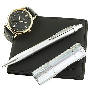 5907494166d6c Montre-Concept coffret cadeau montre Homme avec lampe de poche ,  portefeuilles et stylo référence