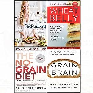 Against all grain celebrations [hardcover ], wheat belly,no-grain diet,grain brain 4 books collection set
