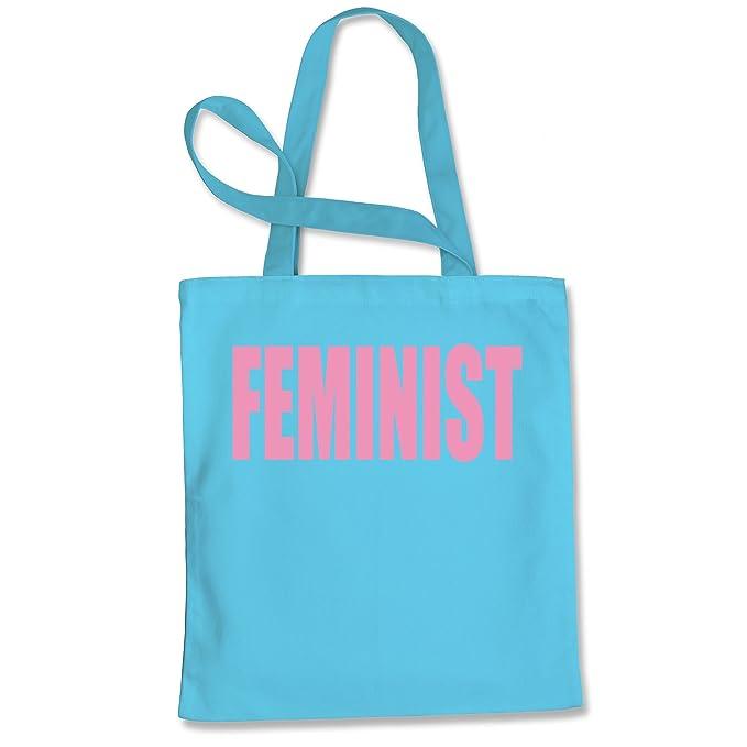 Expresión Tees (rosa impresión) feministas compras Tote Bag