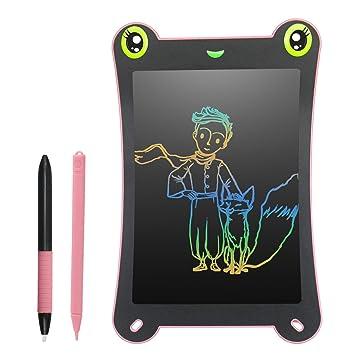 Pizarra Electronica LCD para Niños Pantalla Colorida 8,5 Pulgadas Bloc de Dibujo 2 Imanes 2 Plumas sin Papel Reutilizables para Garabatear Pintura de ...
