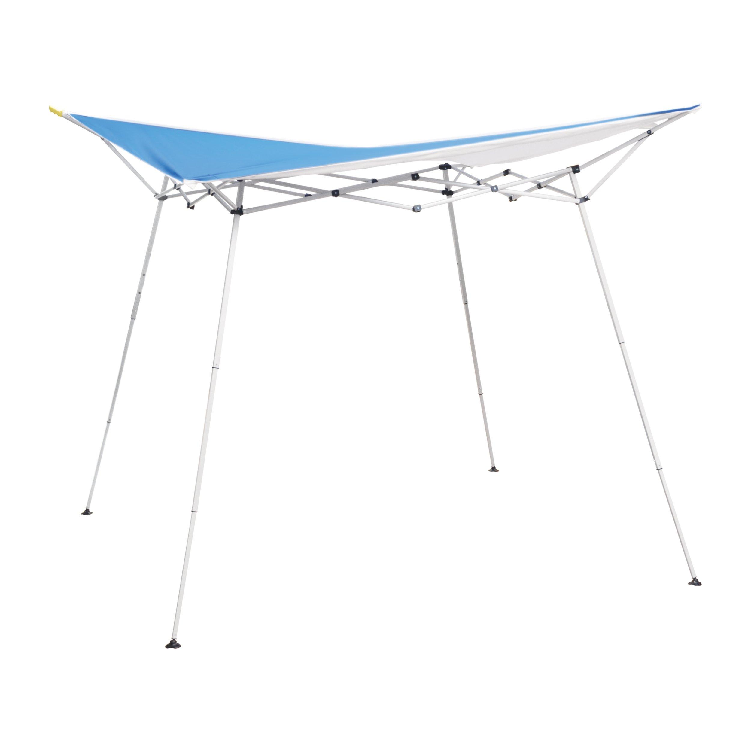Caravan Canopy 8' x 8' Evo Shade Instant Canopy, Blue Top/White Frame