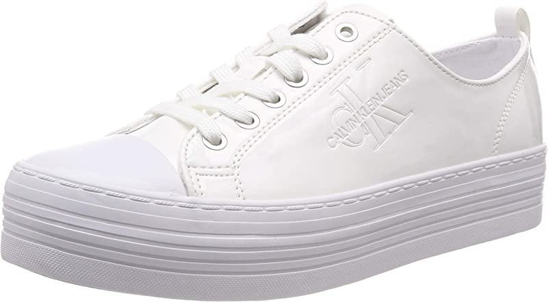 Calvin Klein Jeans Zolah Canvas Sneaker Damen Synthetic Weiß