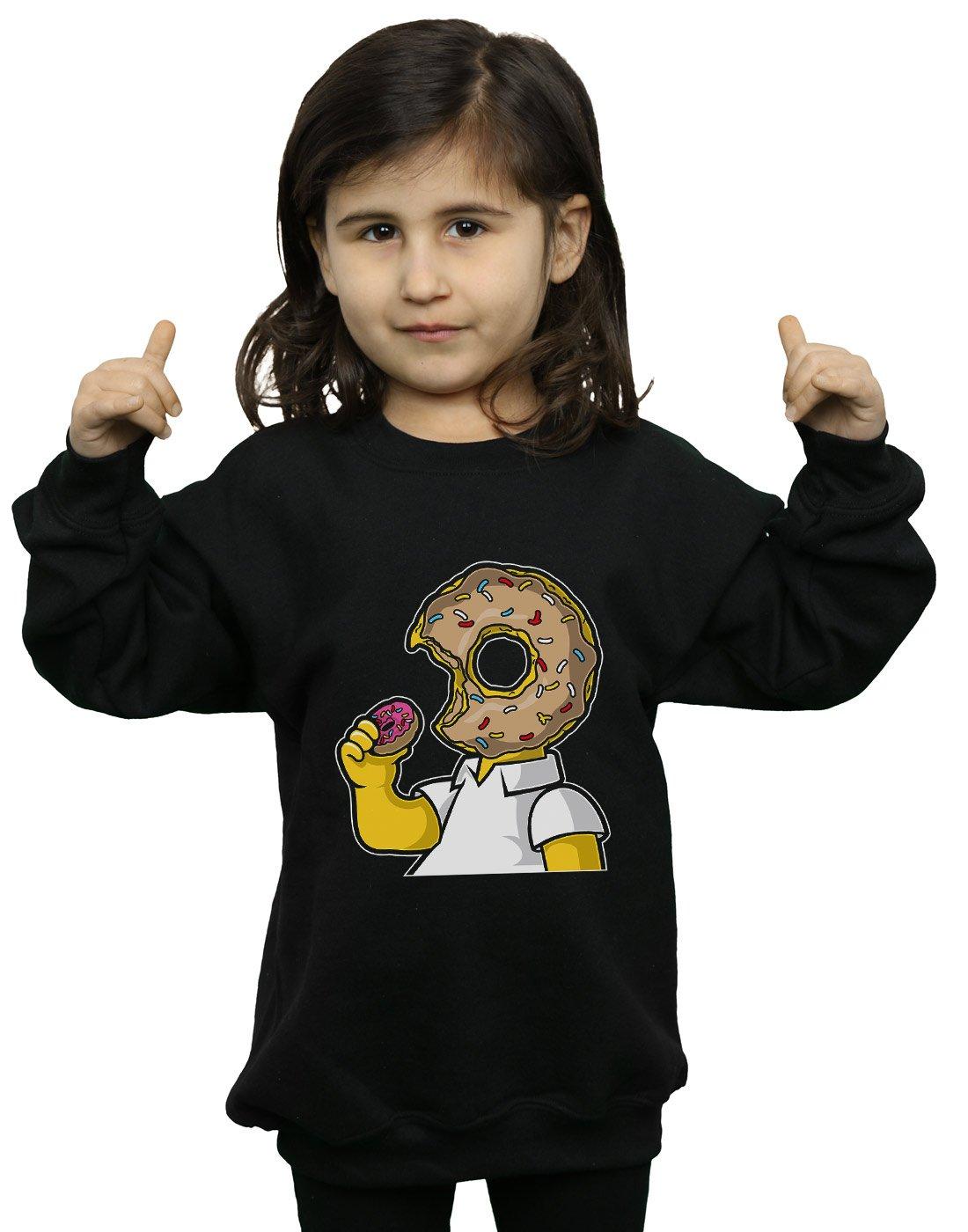 Drewbacca Girls Love Donuts Sweatshirt Black 5-6 Years
