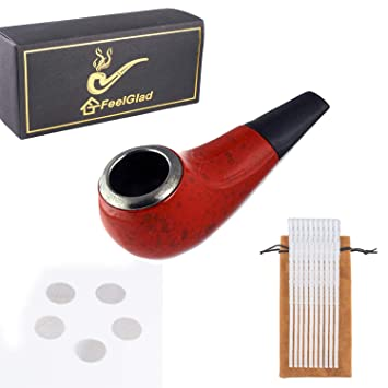 Small Shiny Smoking Pipe for Tobacco with Pipe Screen and Pipe Cleaners