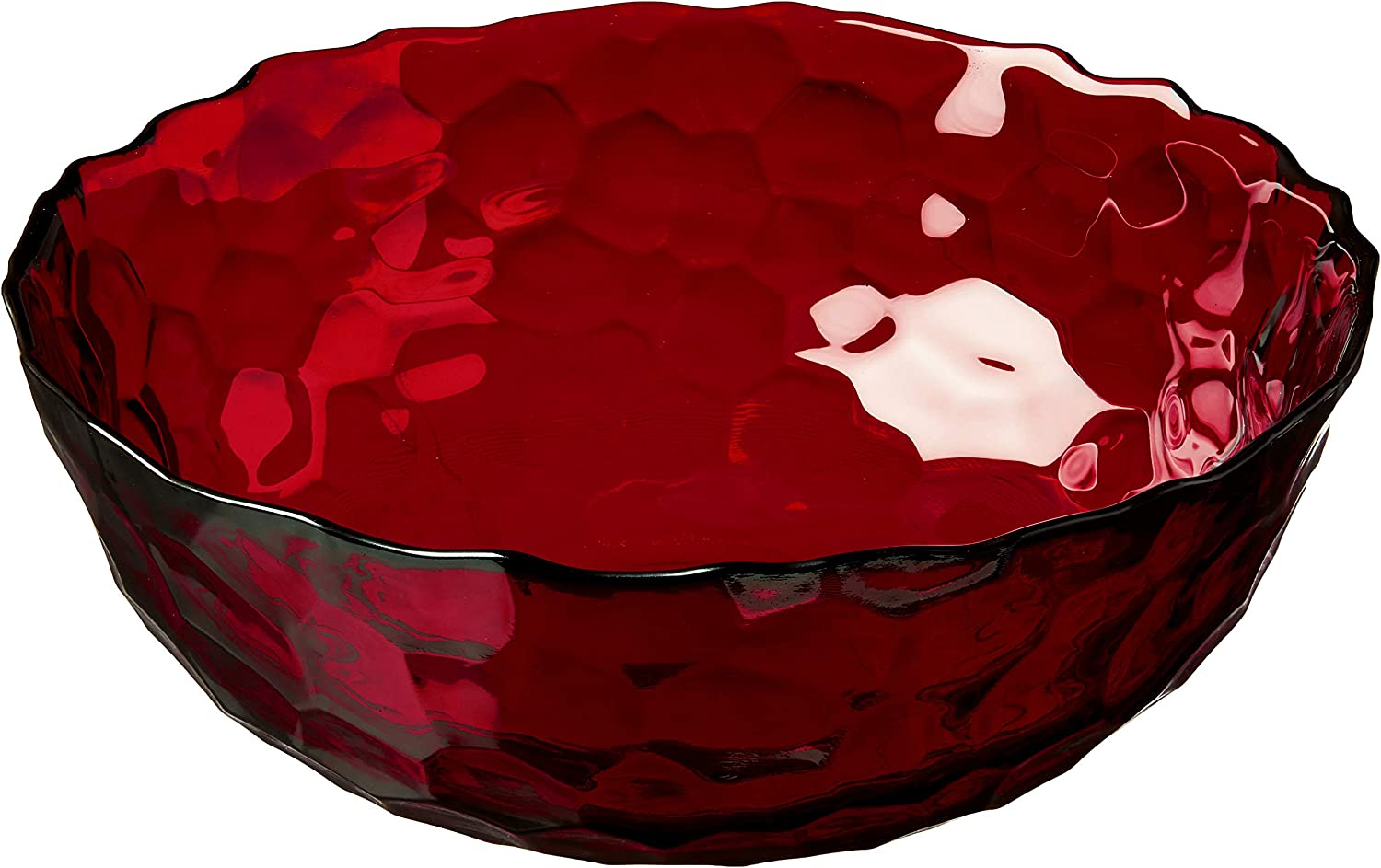 Red Pomegranate Collection 1083-4 Hive Salad Bowl Ruby