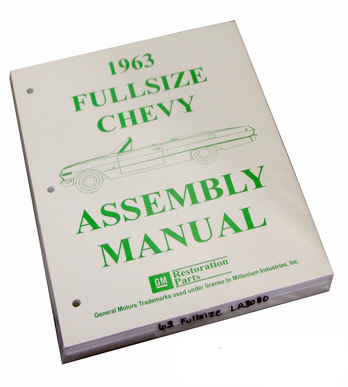 Inline Tube (I-2-14) Factory Assembly Manual for 1963 Full Size Chevrolet Cars Bel Air, Impala, Wagons, etc.