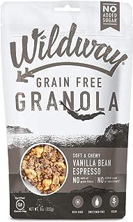 product image for Wildway Vegan Granola | Vanilla Bean Espresso Granola | Certified Gluten Free Granola Breakfast Cereal, Low Carb Snack | Paleo, Grain Free, Non GMO, No Added Sugar | 8oz