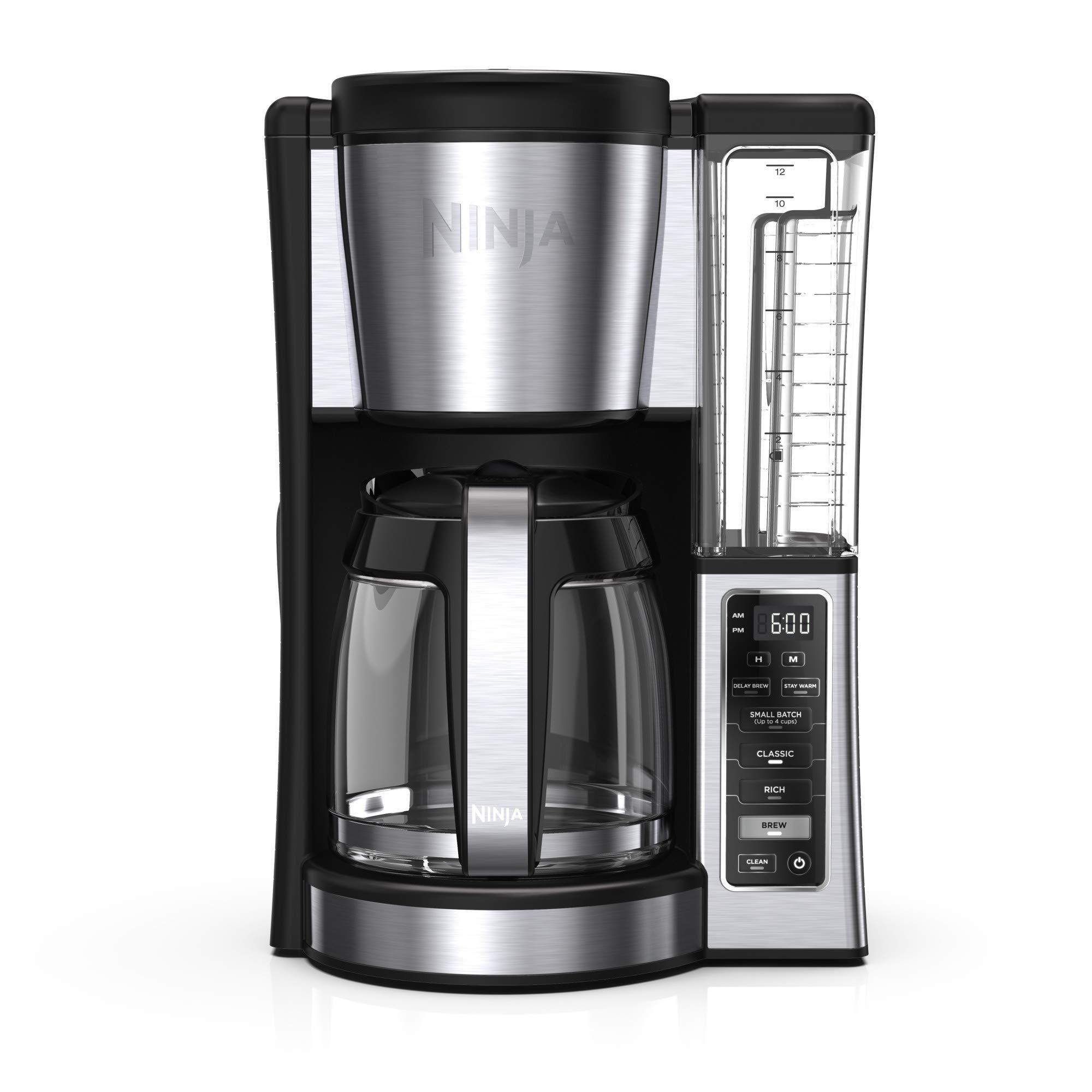 Ninja 12-Cup Programmable Brewer CE251 Coffee Maker, 60 oz, Black/Stainless Steel by Ninja