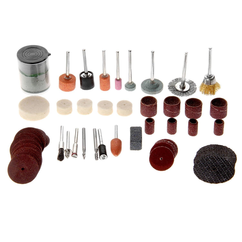 Dophee 89Pcs Polishing Cutting Brush Buffing Sanding Wool Pads Wheel Disc w Shank Paste