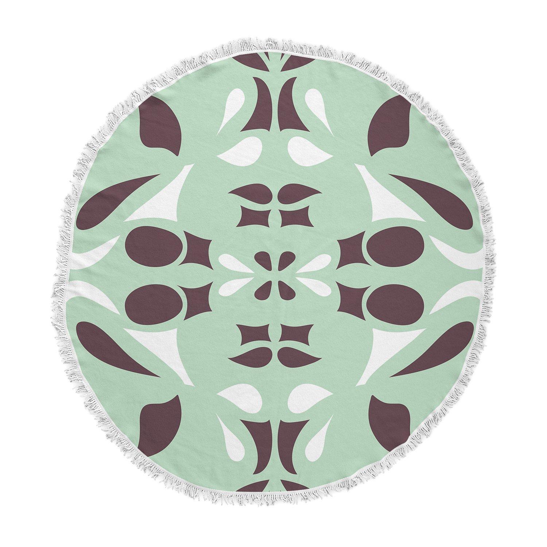 Kess InHouse Miranda MOL Swirling Tiles Teal Memory Foam Bath Mat 17 by 24