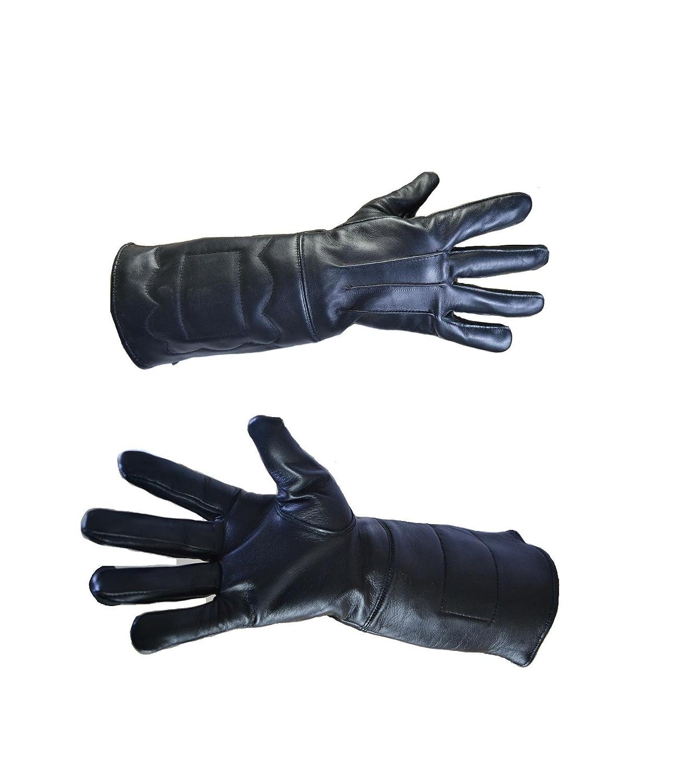 6a72b60751e Amazon.com : Mens Designer Brown Aviator Pilot Leather Gloves ...