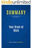 Summary: Your Brain at Work: Review and Analysis of Rock's Book