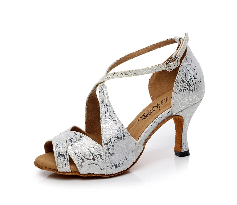 JSHOE Chaussures De Danse Moderne/Jazz Latine/ pour Femme Salsa/Tango 14831/ Thé/Samba/ Moderne/Jazz Chaussures Sandales Talons Hauts,Grey-heeled7.5cm-UK4/EU35/Our36 - 0224fa4 - reprogrammed.space