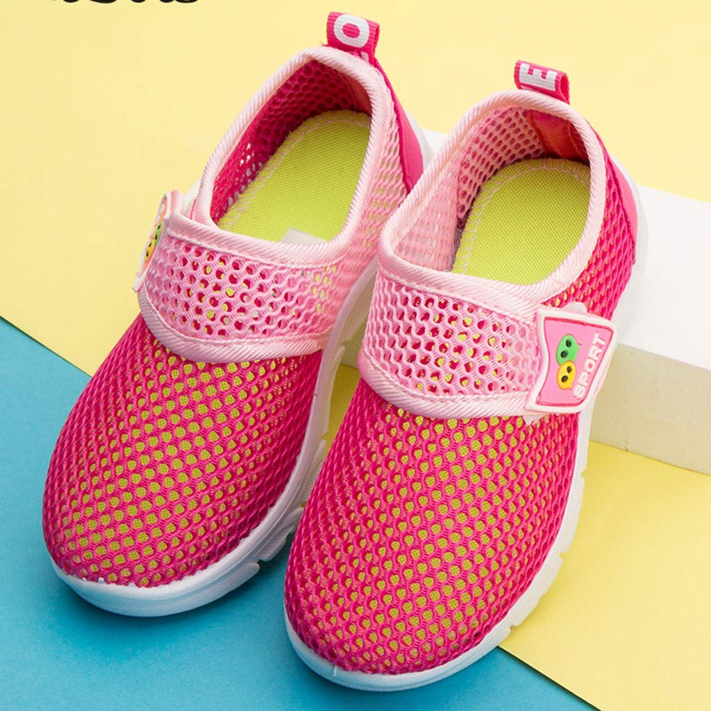 ❤️Rolayllove❤️ Kids Lightweight Sneakers Boys Girls Toddler Cute Casual Walking Sneakers Mesh Breathable Athletic Running Shoes
