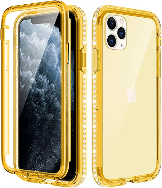 iPhone 11 max pro yellow leopard case