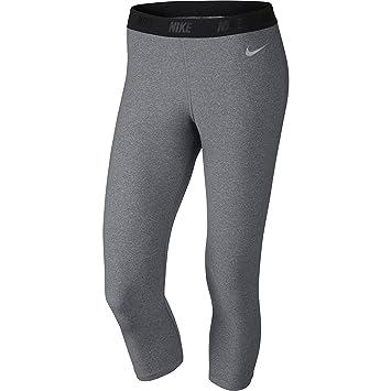 Amazon.com   Nike Ladies Solid Capri Tights Carbon Heather Metallic ... e92dabcabd